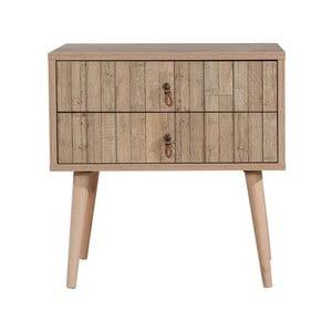 Dřevěný noční stolek Iris Stripes