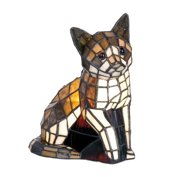 Tiffany stolní lampa Cat