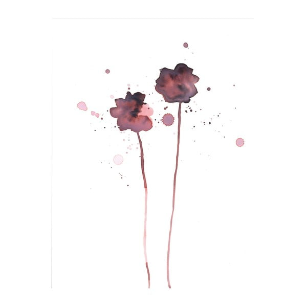 Plakát Bloomingville Plum Poppy, 70x50cm