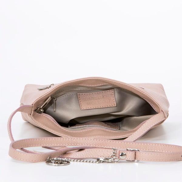 Kožená kabelka Francesco, pudrová