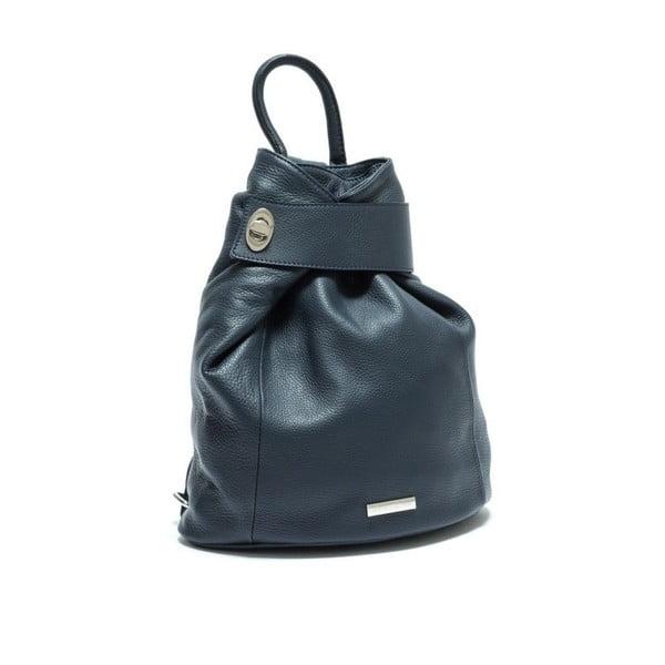 Modrý kožený batoh Anna Luchini Bonnie