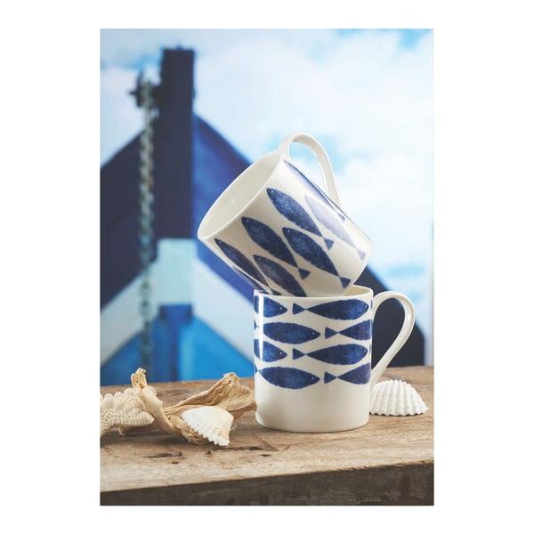 Sada 4 hrnků z kostního porcelánu Churchill China Couture Sieni Fishie, 250ml