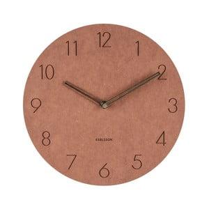 Hnědé nástěnné dřevěné hodiny Karlsson Dura, ⌀29 cm