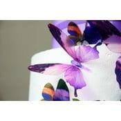 Set 18 autocolante adezive 3D Fanastick Butterflies Purple