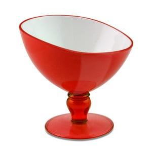 Červený pohár na dezert Vialli Design Livio, 180ml