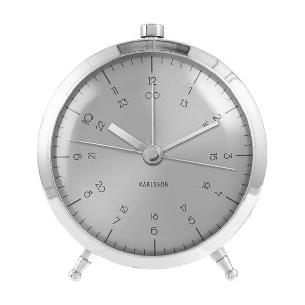 Budík Present Time Button Steel