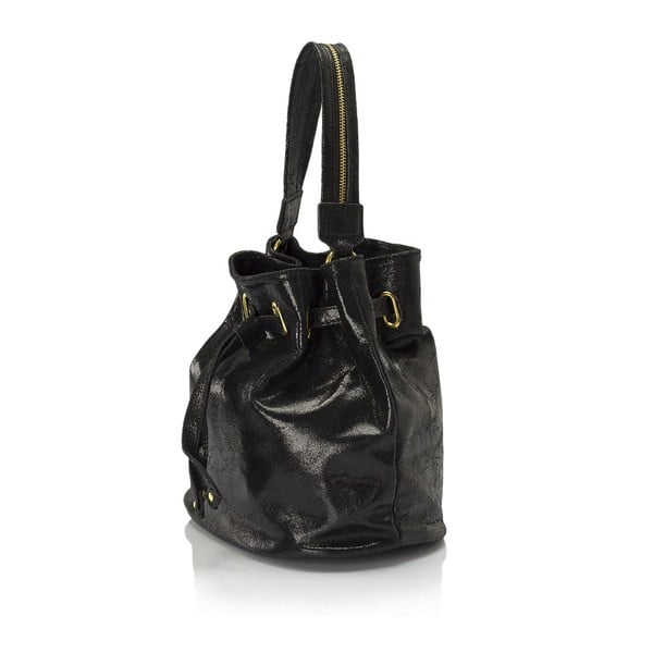 Černá kožená kabelka Lisa Minardi Prisha