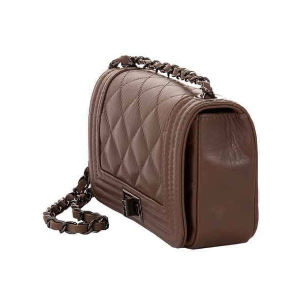 Světle hnědá kožená kabelka Andrea Cardone 2030