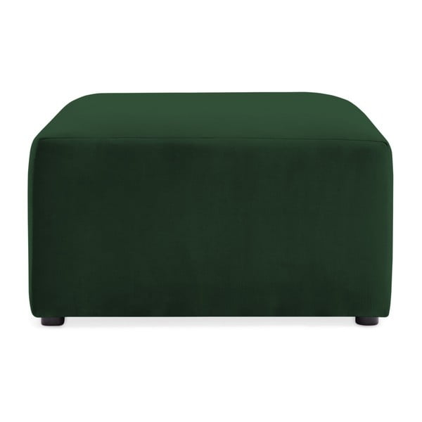 Emeraldově zelená podnožka Vivonita Velvet Cube