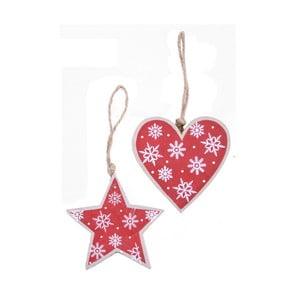 Sada 2 červených závěsných dekorací Ego Dekor Christmas