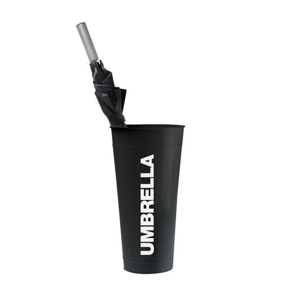 Držák na deštníky, černý