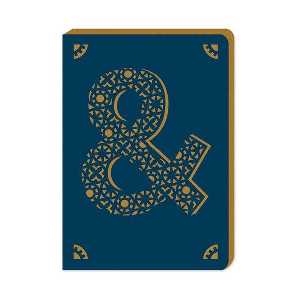 Linkovaný zápisník A6 s monogramem Portico Designs &, 160stránek