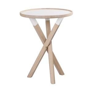 Matně lakovaný dubový stolek Folke Sphinx, ⌀ 50 cm
