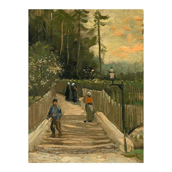 Obraz Vincenta van Gogha - Path in Montmartre, 40x30 cm