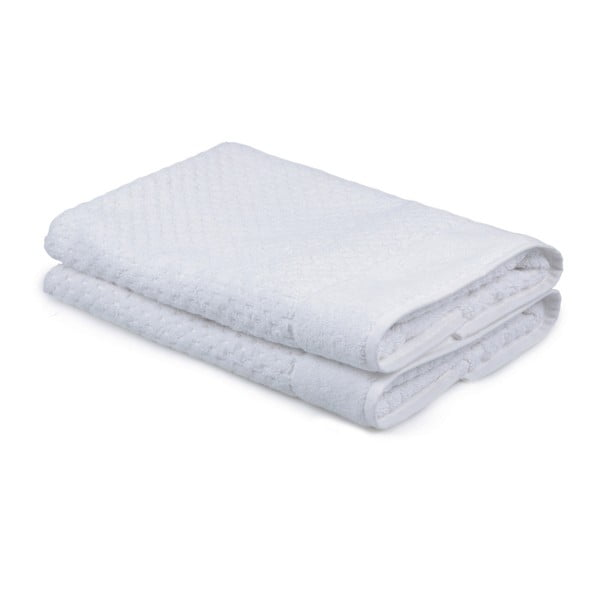 Sada 2 bílých ručníků ze 100% bavlny Mosley, 50x80cm