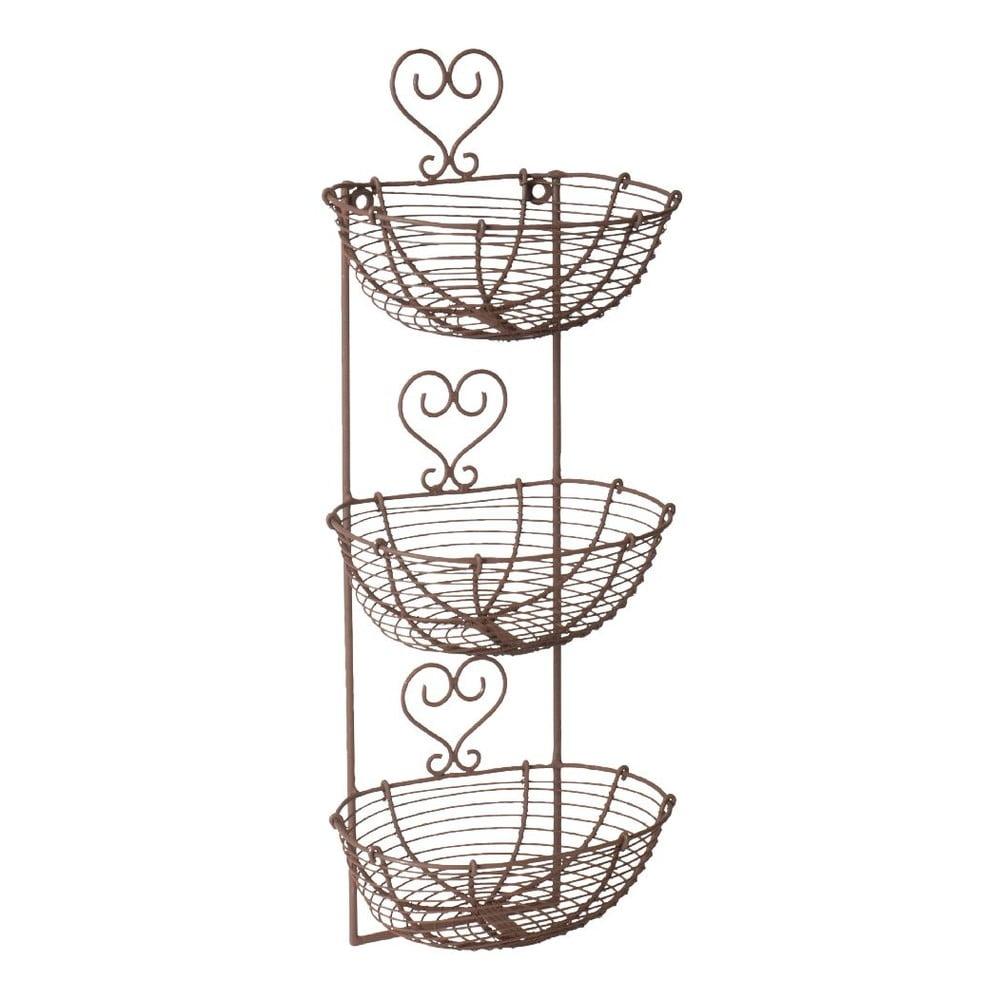 Nástěnné úložné kovové košíky Antic Line Heart