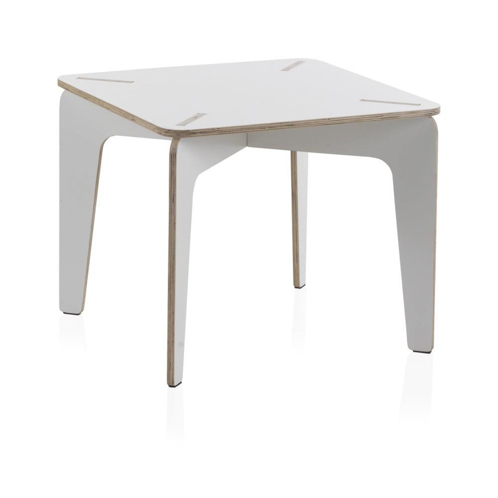 Bílý dětský stůl z překližky Geese, 60 x 60 cm