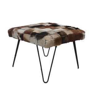 Stolička s potahem z kozí kůže HSM Collection Demea