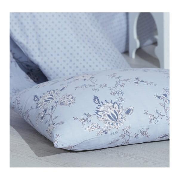 Lenjerie de pat cu cearşaf Flo Blue, 220 x 240 cm