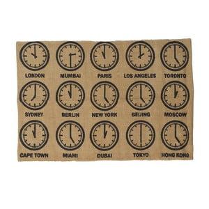 Bavlněný koberec Clock, 60x90 cm