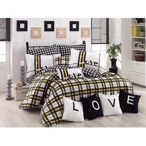 Lenjerie de pat cu cearșaf Code Green, 200 x 220 cm