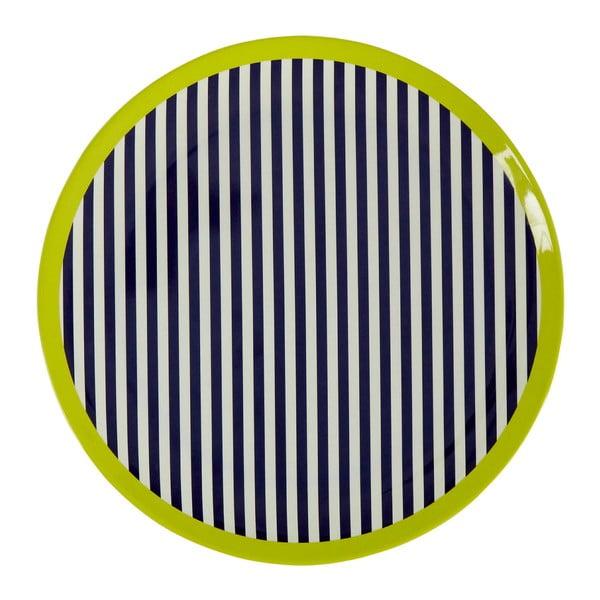 Mimo fekete-fehér csíkos tányér, ⌀ 20 cm - Premier Housewares
