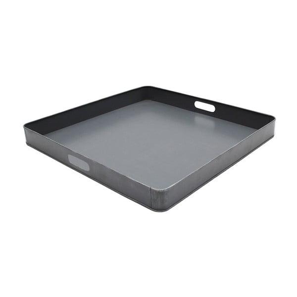Tavă metalică pentru servit LABEL51, 80x80cm, gri