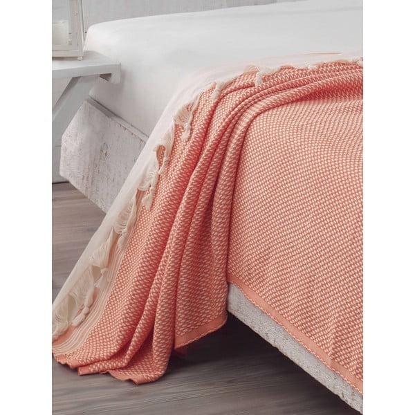 Přehoz přes postel Hasir Orange, 200x240 cm