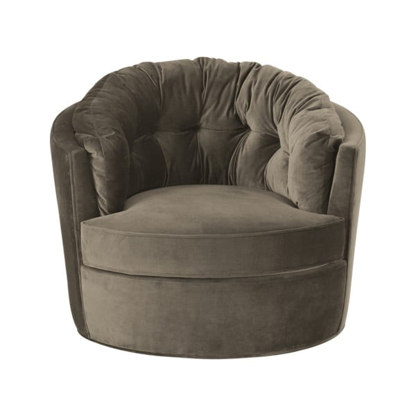 Khaki kerek fotel, ø87cm - BePureHome