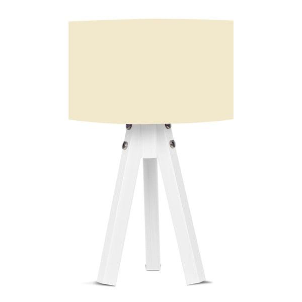 Stolní lampa s béžovým stínítkem Kate Louise Bianca