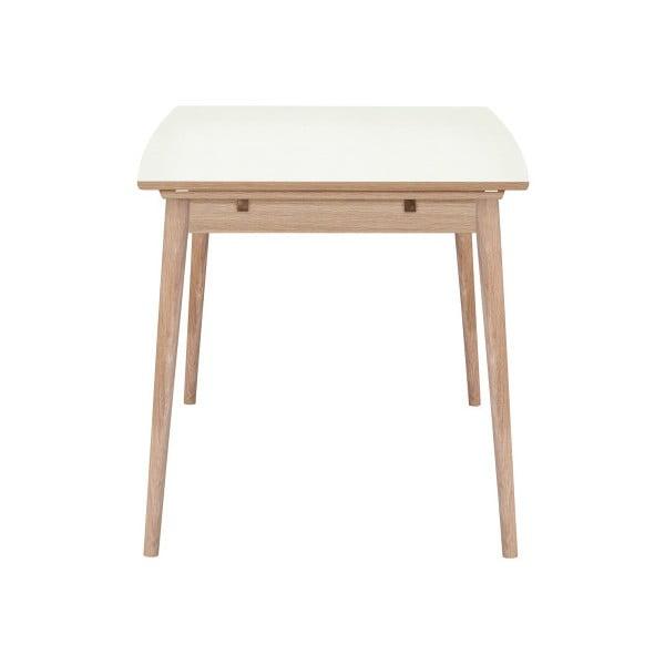 Rozkladací jedálenský stôl s bielou doskou WOOD AND VISION Curve, 122 × 82 cm