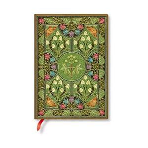 Linkovaný zápisník s měkkou vazbou Paperblanks Poetry In Bloom, 13x18cm