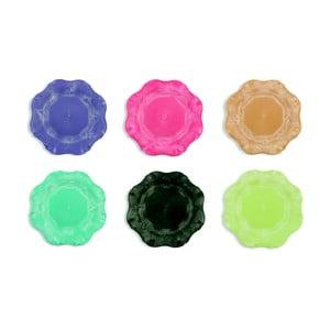 Sada 6 barevných plastových talířů Villa d'Este Hippy