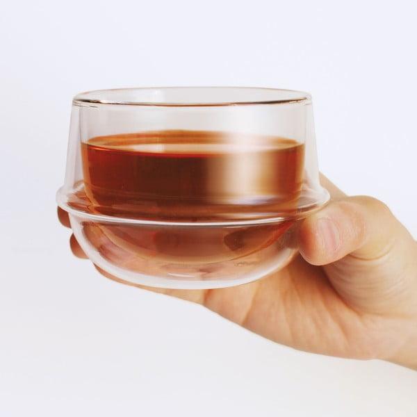 Čajový hrnek s dvojitým sklem Kinto Kronos