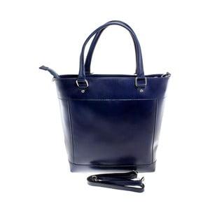 Modrá kožená taška Chicca Borse Crosty
