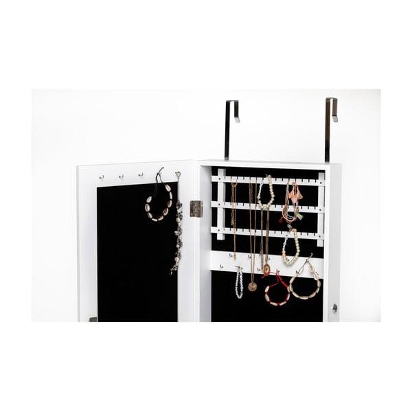 Dulăpior pentru bijuterii cu oglindă Chez Ro Bien, alb