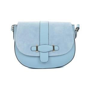 Světle modrá kožená kabelka Mangotti Bags Adona