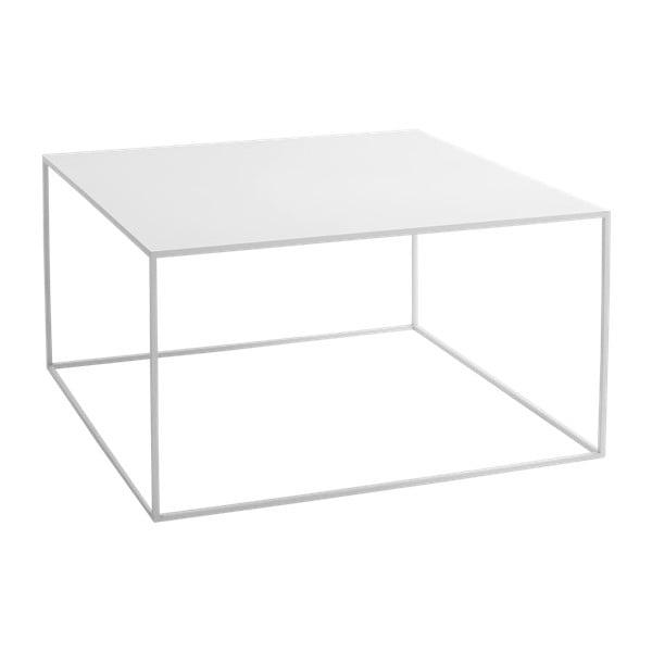 Tensio fehér dohányzóasztal, hosszúság 80 cm - Custom Form