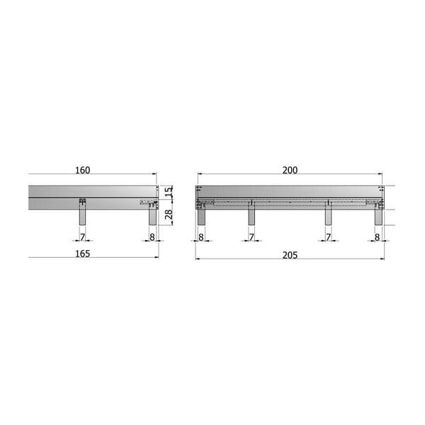 Bílá dřevěná postel De Eekhoorn Herringbone, 160 cm
