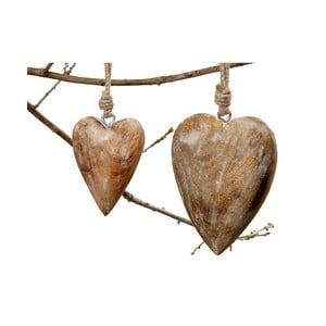 Závěsné srdce Boltze Heart Natural, 15 cm