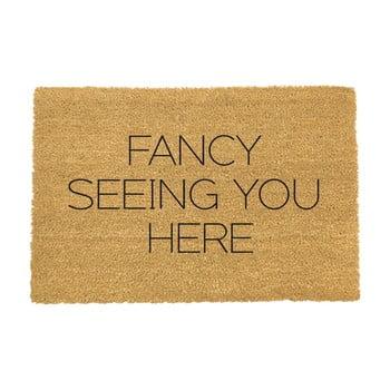 Covoraș intrare din fibre de cocos Artsy Doormats Fancy Seeing You Here, 40 x 60 cm imagine
