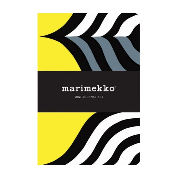 Sada mini zápisníků Chronicle Books Marimekko Mini Journal Set, 2ks linkované + 2ks nelinkované