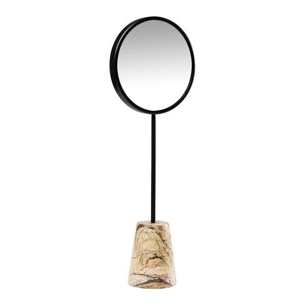 Stolní zrcadlo s mramorovým podstavcem Kare Design Bung, Ø20cm