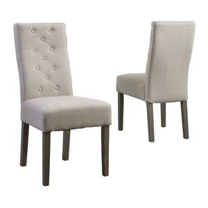 Béžová jídelní židle s podnožím z dubového dřeva Canett Tango
