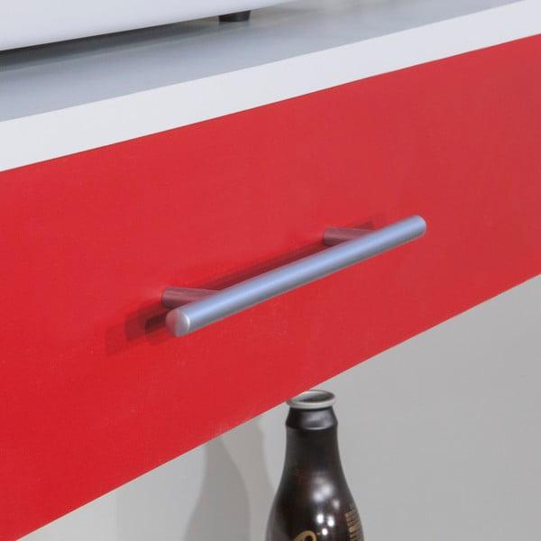 Červeno-bílý kuchyňský úložný systém s policemi Symbiosis Léon