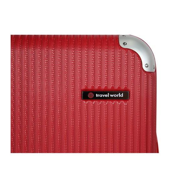 Tmavě červené kabinové zavazadlo Travel World Luxury, 44l