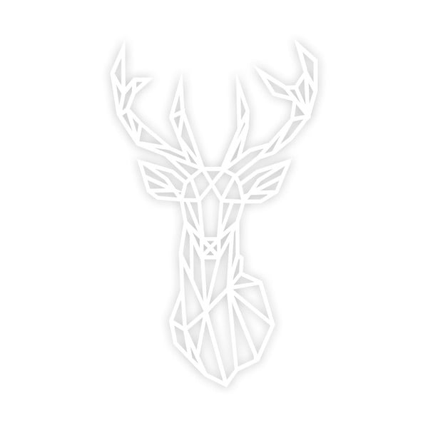 Deer fehér fali dekoráció, 39 x 65 cm