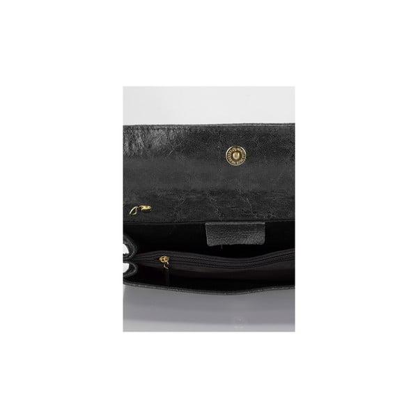 Černá kožená kabelka Giulia Massari Siana