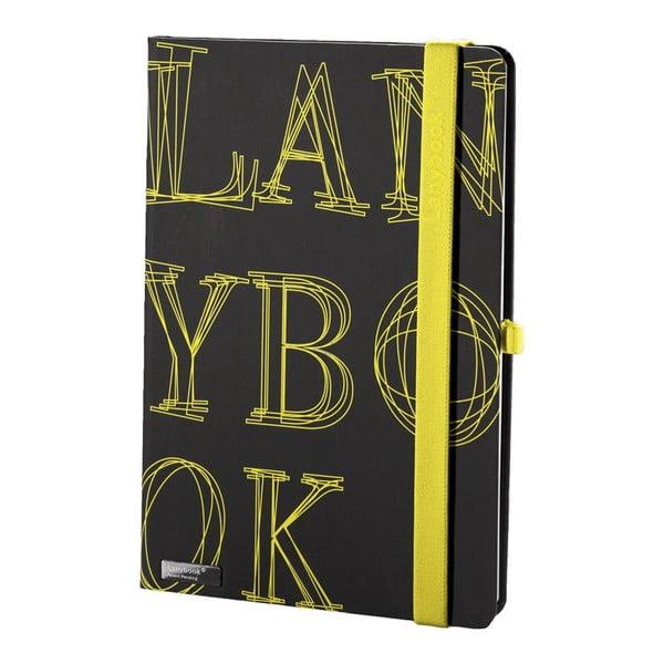 Zápisník L-Y-O Black, A5