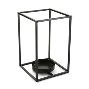 Černý svícen VERSA Cube, výška 29,5 cm